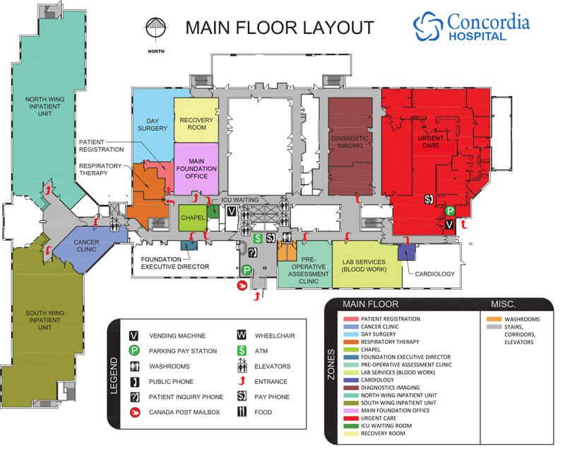 Concordia Hospital Main Floor