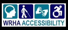 WRHA Accessibility Logo